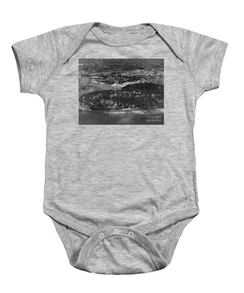 Inwood Hill Park Aerial, 1935 Baby Onesie by Cole Thompson