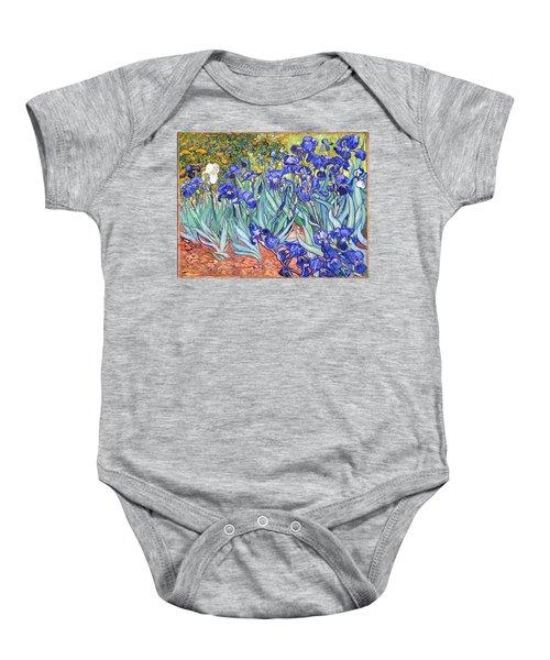 Baby Onesie featuring the painting Irises by Van Gogh