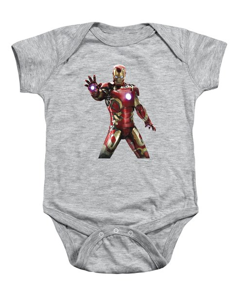 Iron Man Splash Super Hero Series Baby Onesie