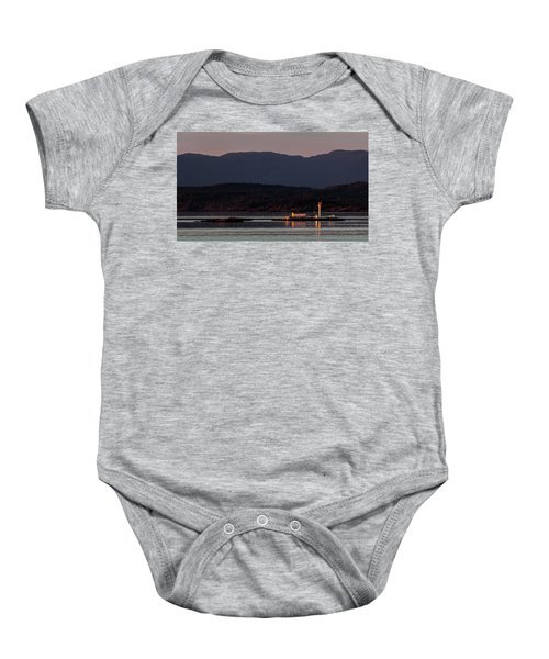 Isolated Lighthouse Baby Onesie