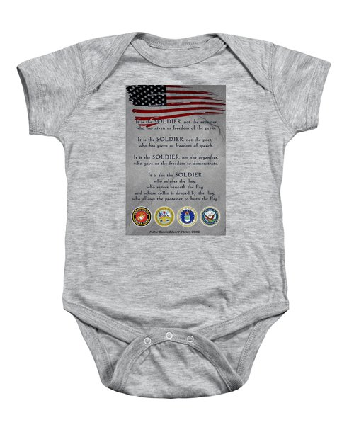 It Is The Soldier Baby Onesie