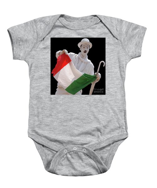 Italian Charlie Chaplin Baby Onesie