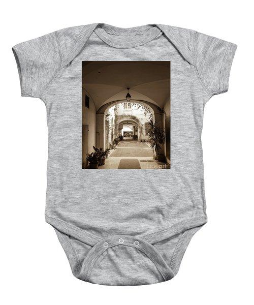Italian Courtyard  Baby Onesie