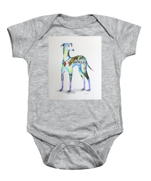 Italian Greyhound Tattoo Dog Baby Onesie