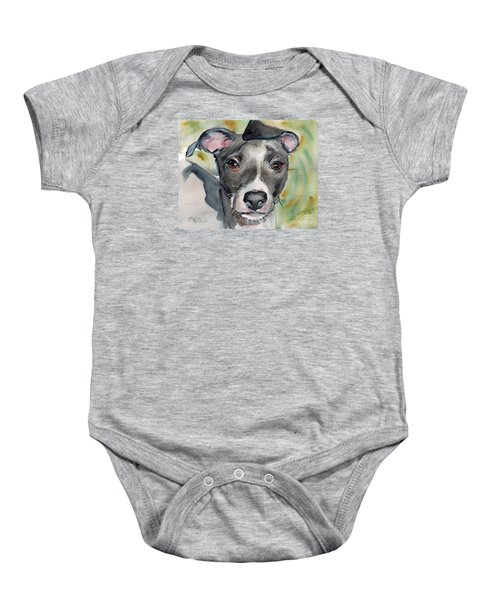 Italian Greyhound Watercolor Baby Onesie