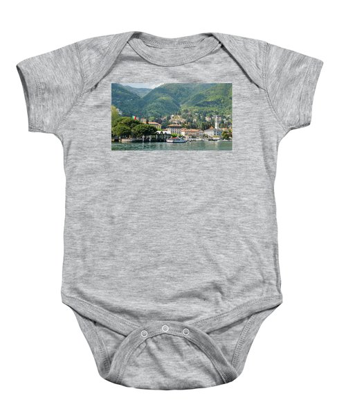 Italian Village On Lake Como Baby Onesie