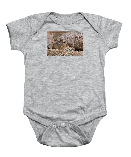 Baby Onesie featuring the photograph It's Been A Long Day by Gary Lengyel