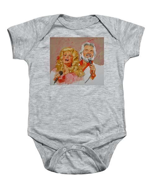 Its Country - 8  Dolly Parton Kenny Rogers Baby Onesie