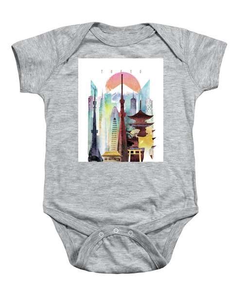 Japan Tokyo Baby Onesie by Unique Drawing