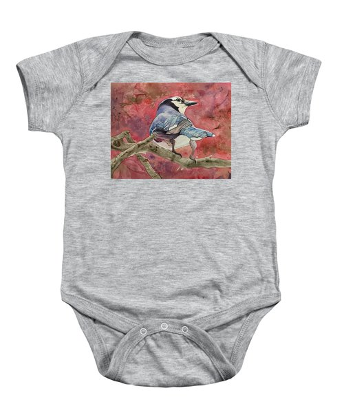 Jay In The Japanese Maple Baby Onesie