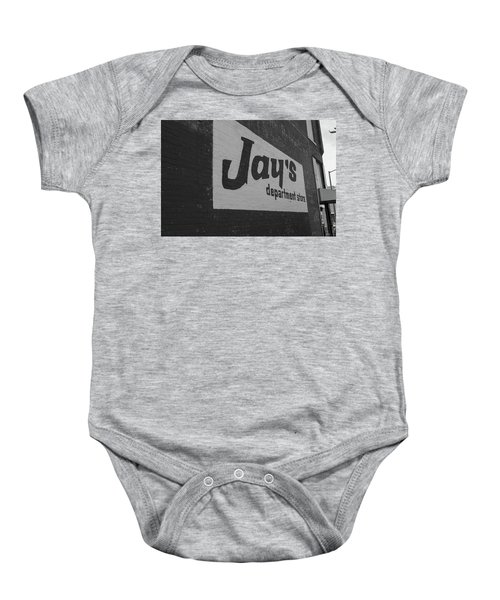 Jay's Department Store In Bw Baby Onesie