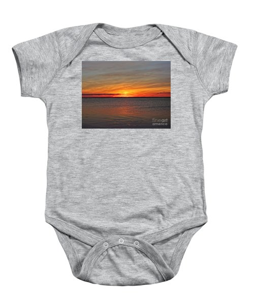 Jersey Shore Sunset Hdr Baby Onesie