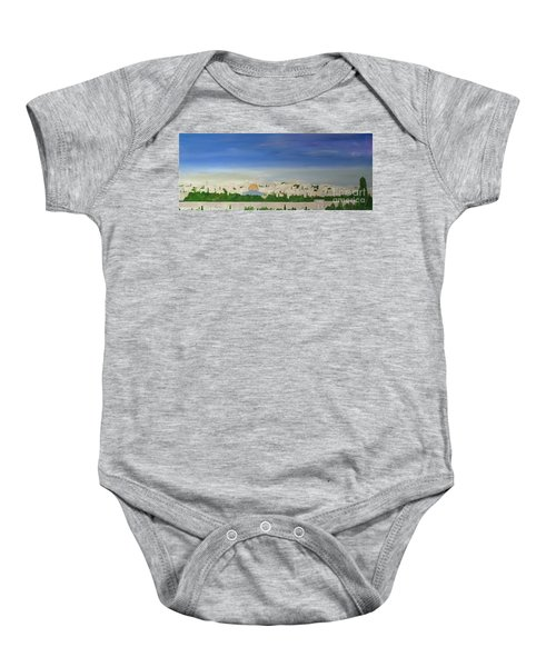 Jerusalem Skyline Baby Onesie
