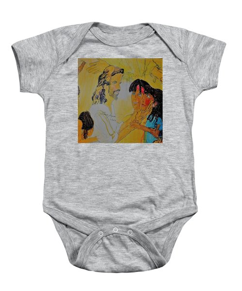 Jesus And The Children Baby Onesie