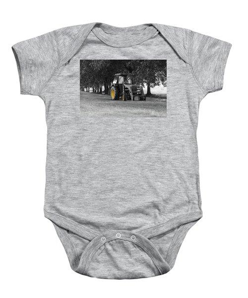 John Deere 620 In Selective Color Baby Onesie