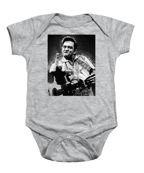 Johnny Cash Baby Onesie by Taylan Apukovska