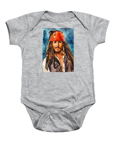 Johnny Depp As Jack Sparrow Baby Onesie