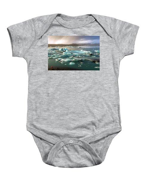 Jokulsarlon The Magnificent Glacier Lagoon, Iceland Baby Onesie