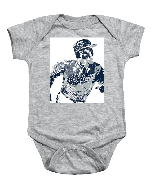 8b0b7458 Jose Ramirez Cleveland Indians Pixel Art 3 Baby Onesie