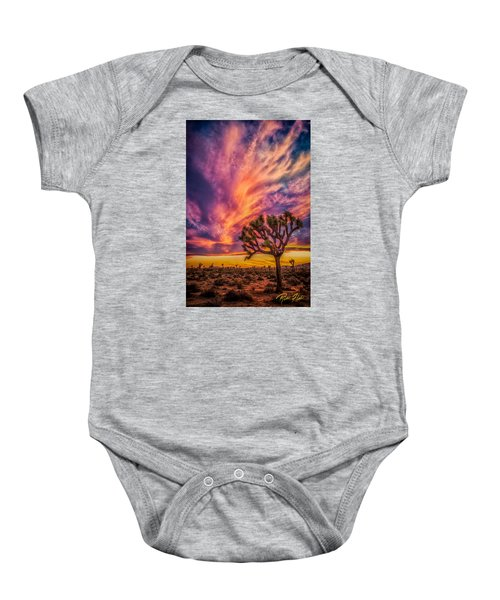 Joshua Tree In The Glowing Swirls Baby Onesie