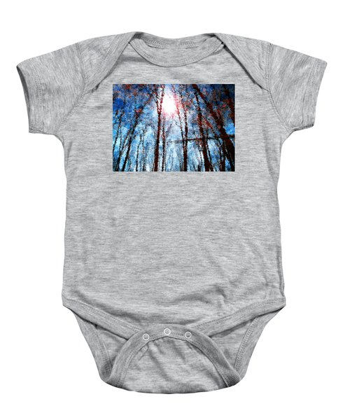 Jumbled Waters Baby Onesie