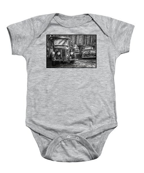Junked Mack Truck Ad Old Plymouth Baby Onesie