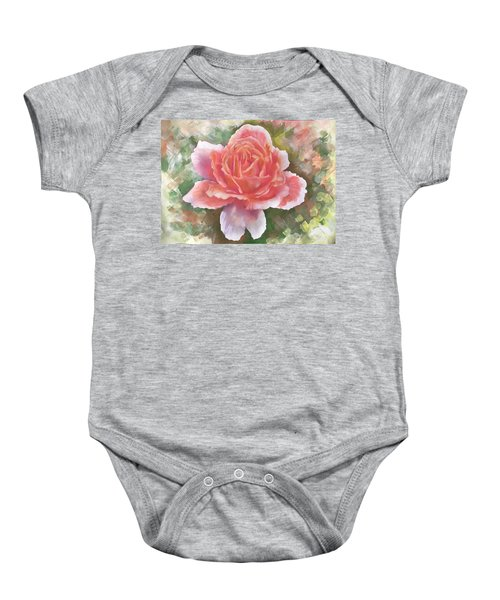 Just Joey Rose From The Acrylic Painting Baby Onesie