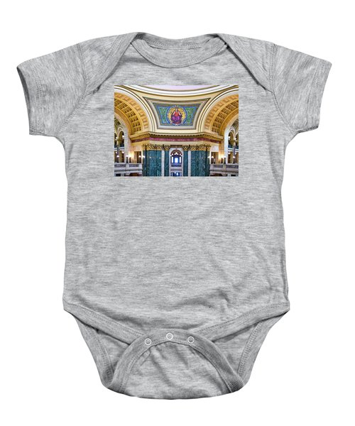 Justice Mural - Capitol - Madison - Wisconsin Baby Onesie