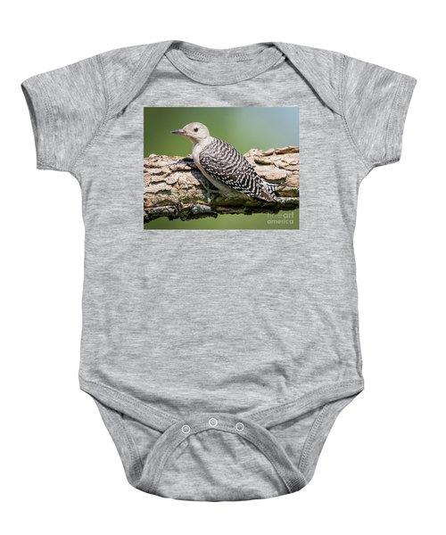 Juvenile Red-bellied Woodpecker Baby Onesie by Ricky L Jones