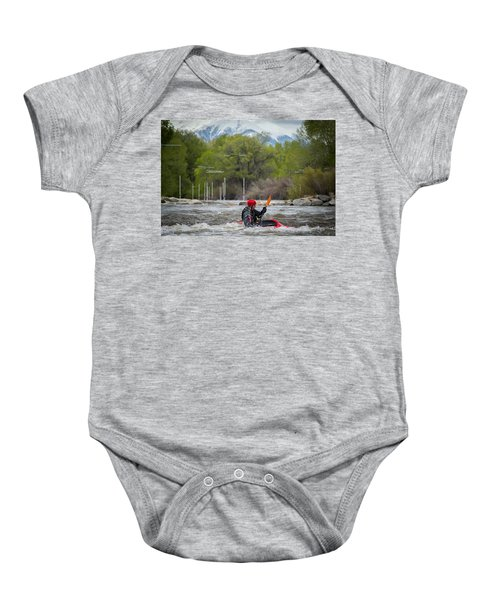 Kayaker On The Arkansas Baby Onesie