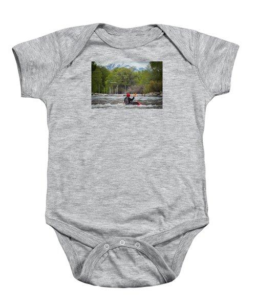 Kayaker On The Arkansas Baby Onesie