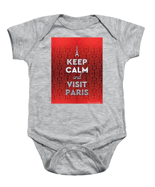 Keep Calm And Visit Paris Opera Garnier Floral Wallpaper Baby Onesie