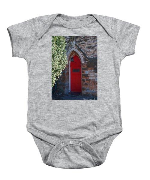 Red Church Door Baby Onesie