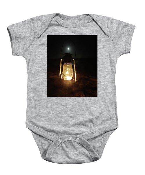 Kerosine Lantern In The Moonlight Baby Onesie