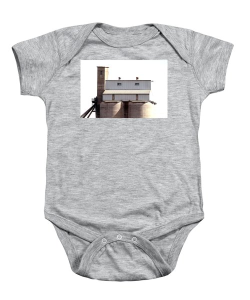 Baby Onesie featuring the photograph Kingscote Skyrise by Stephen Mitchell