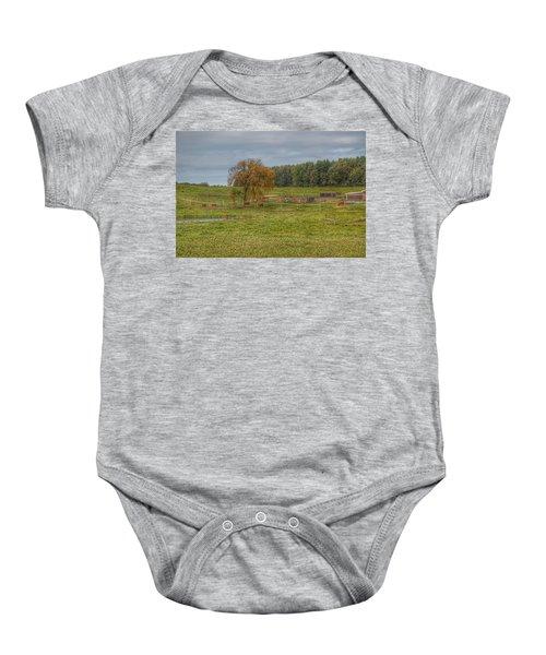 1002 - Kingston Road Cows Baby Onesie