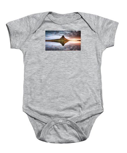 Kirkjafell Mountain Sunrise Baby Onesie