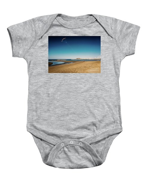 Kitesurf On The Beach Baby Onesie