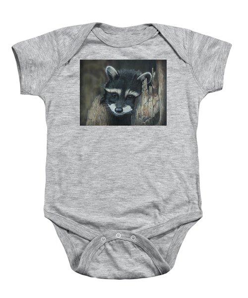 Kit...the Baby Raccoon Baby Onesie