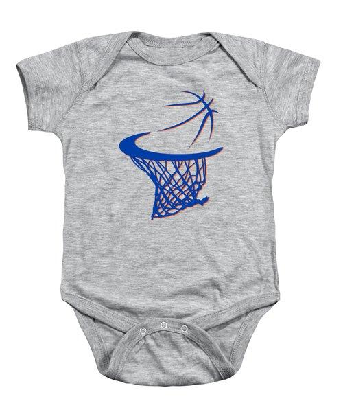 Knicks Basketball Hoop Baby Onesie