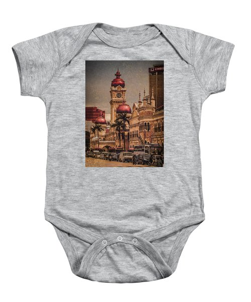 Kuala Lumpur, Malaysia - Red Onion Domes Baby Onesie