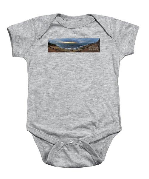 La Jolla Shores Beach Panorama Baby Onesie