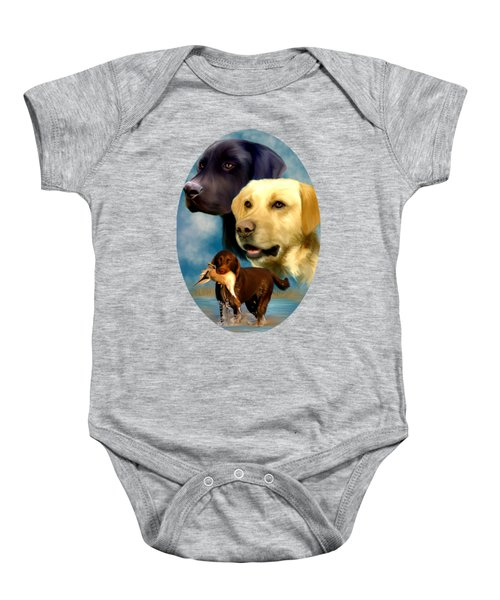 Labrador Retriever With Name Logo Baby Onesie