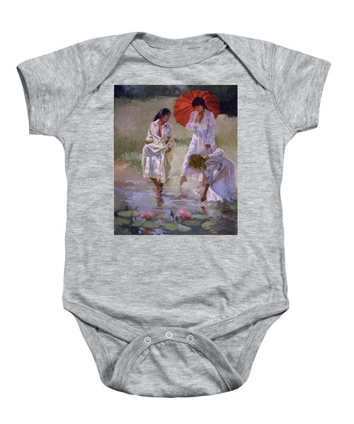Ladies And Lilies Baby Onesie