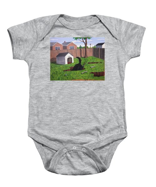 Lady Digs In The Backyard Baby Onesie