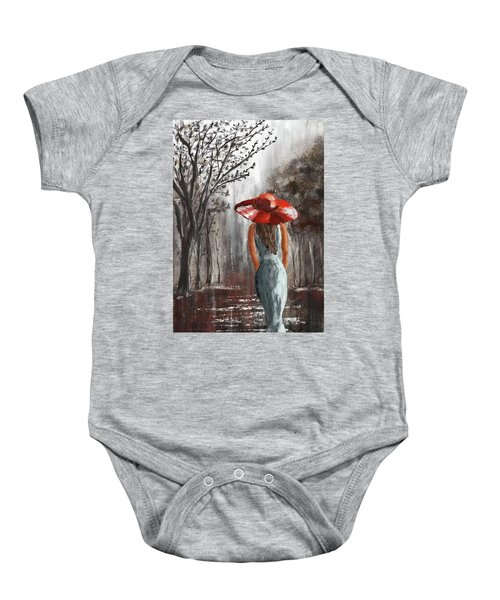 Lady In A Red Hat Baby Onesie