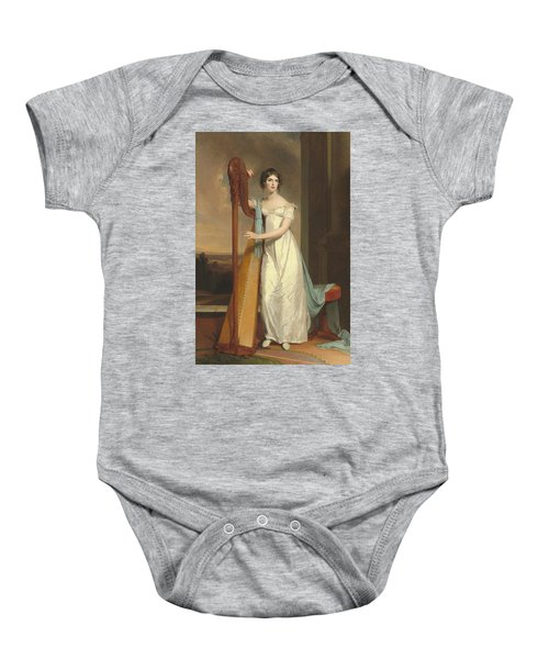 Lady With A Harp Baby Onesie
