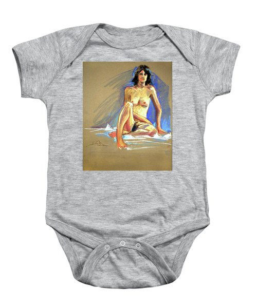 Lady With Blue Baby Onesie