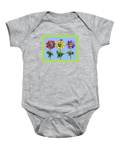 Ladybugs In The Garden Baby Onesie by Shelley Wallace Ylst