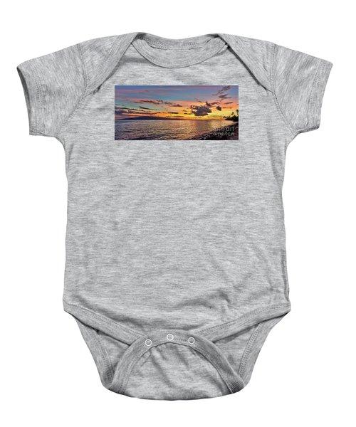 Lahaina Sunset Panorama Baby Onesie